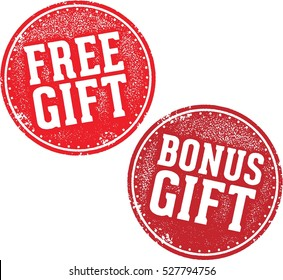 Free Bonus Gift Promotional Offer Stamp