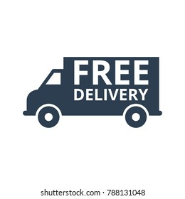 Free delivery icon on white background. Vector illustration