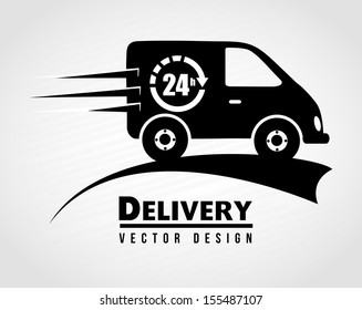 Free delivery icon over white  background vector illustration
