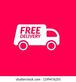 free delivery icon.shipping delivery truck