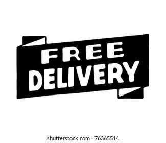 Free Delivery - Retro Ad Art Banner