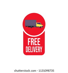 free delivery truck icon isolated sticker badge logo design elements vector illustration