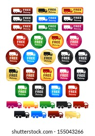 Free Delivery Truck Icons And Badges