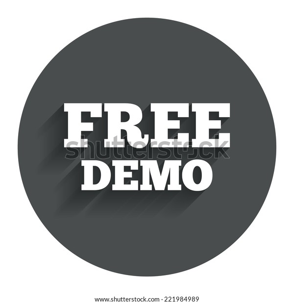 Free Demo Sign Icon Demonstration Symbol Stock Vector (Royalty Free
