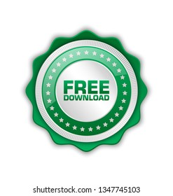 Free download icon or badge suitable for custom design