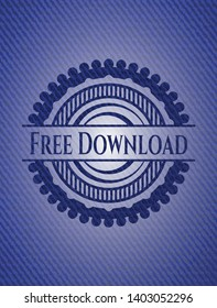 Free Download with jean texture. Vector Illustration. Detailed.