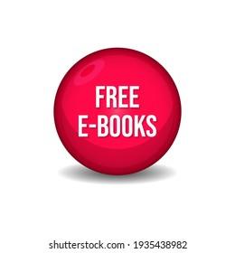 Free E-Books Download Web Button Design Vector