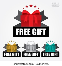 Free gift images stock photos vectors shutterstock free gift sign and tag vector negle Images