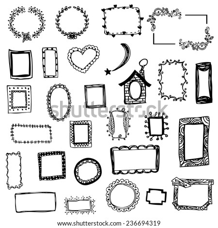 Free Hand Drawing Picture Frame Vector Stock Vector Royalty Free