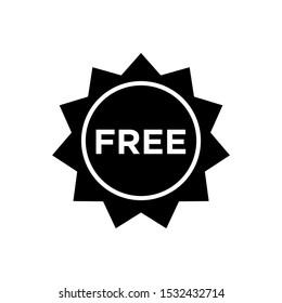 Free label icon, Free sticker, badge, tag, vector illustration EPS 10