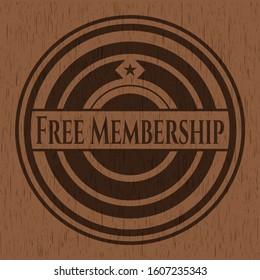 Free Membership retro wood emblem. Vector Illustration.
