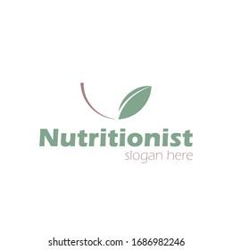 Free organic nutritionist logo gestural balance vector, nutrition vector.