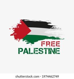 Free Palestine brush vector illustration