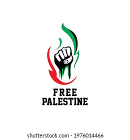 Free Palestine Strong and simple design