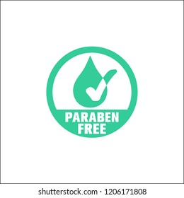Free parabens, vectorized icon.