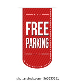 Free parking banner design over a white background, vector illustration