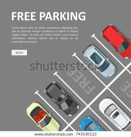 Free Parking Template Place Vehicle Parking Stock Vector Royalty
