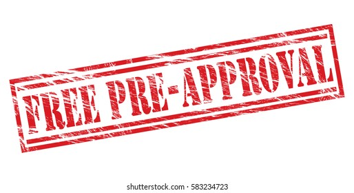 free pre-approval red vector stamp on white background
