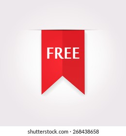Free Product Red Label Icon, Vector Image