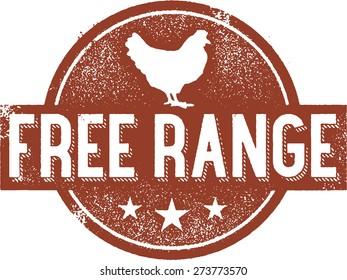 Free Range Chicken Stamp