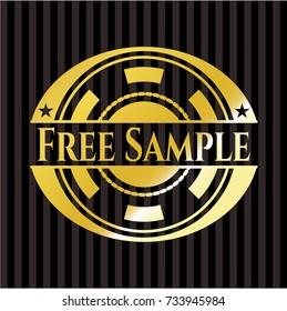 Free Sample golden emblem