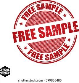 Free sample grunge stamp.Vector