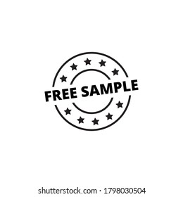 free sample outline flat icon