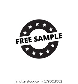 free sample outline glyph icon