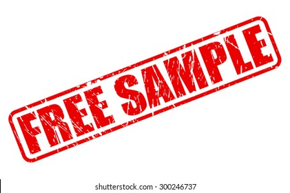 Free sample red stamp text on white