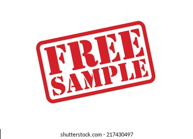 FREE SAMPLE Rubber Stamp vector over a white background.