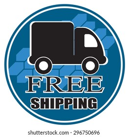 free shipping blue badge with truck