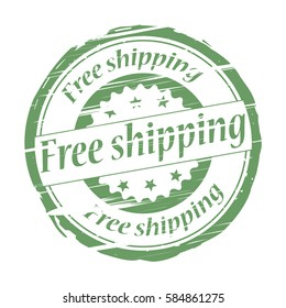 Free shipping grunge stamp - vector