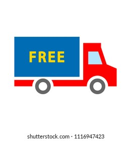 free shipping icon, delivery truck illustration isolated, delivery service sign - free delivery icon