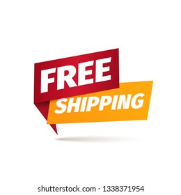 Free shipping isolated vector icon. Delivery service pointer. Sticker of cargo services