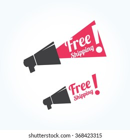 Free Shipping Megaphone Icon