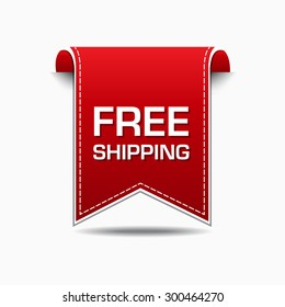 Free Shipping Red Vector Icon Design
