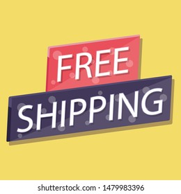 Free shipping retail promotion badge
