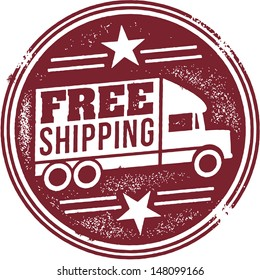 Free Shipping Retail Promotion Stamp