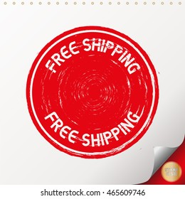 FREE SHIPPING. Rubber Stamp with red color have porous and rough on white paper. For make a mark or design your product using a stamp or seal. Easy to change color.