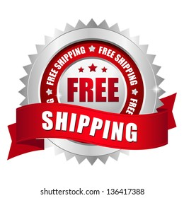 Free shipping seal red