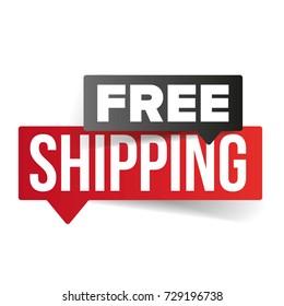 Free Shipping speech bubble vector