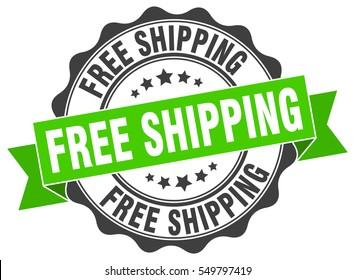 free shipping. stamp. sticker. seal. round grunge vintage ribbon free shipping sign