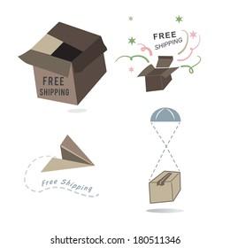 Free Shipping, vector set