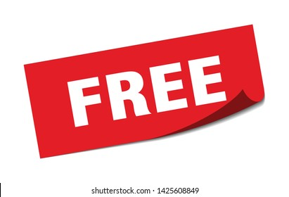 free square sticker. free sign. free banner