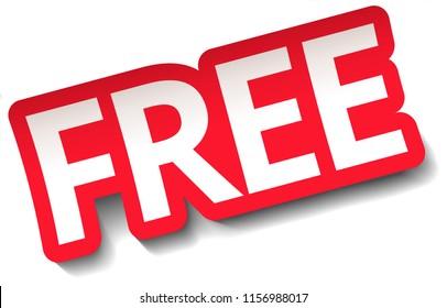 FREE Sticker Sign Vector Illustration