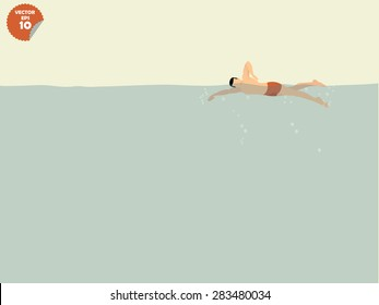 free style swimming concept