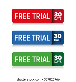 Free trial 30 days vector
