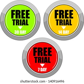 Free Trial, icon vector