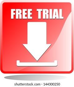 Free Trial, icon vector