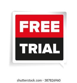 Free trial label vector